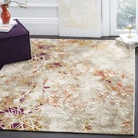 Safavieh Porcello Modern Abstract Grey/ Purple Area Rug - 4'1 x 6'