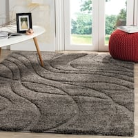 Safavieh Florida Ultimate Shag Contemporary Grey / Grey Shag Rug - 6' x 9'