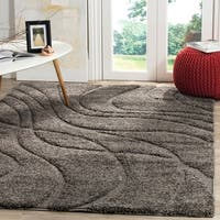 Safavieh Florida Ultimate Shag Contemporary Grey / Grey Shag Rug (8' 6 x 12')