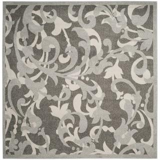 Safavieh Amherst Orpha Modern Indoor/ Outdoor Rug (7 x 7 Square - Grey/Light Grey)