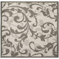 Safavieh Amherst Indoor / Outdoor Ivory / Grey Rug - 7' Square