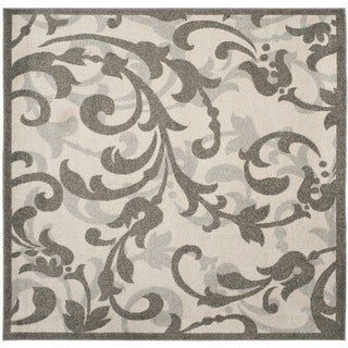 Safavieh Amherst Orpha Modern Indoor/ Outdoor Rug (7 x 7 Square - Ivory/Grey)
