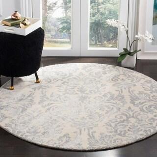 Safavieh Bella Hand-Woven Wool Ivory / Silver Area Rug (5' Round)