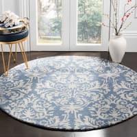 Safavieh Bella Hand-Woven Wool Navy / Grey Area Rug - 5' x 5' round