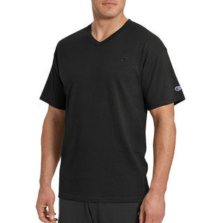 Champion Men's Solid Jersey V-neck T-shirt