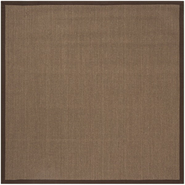 Safavieh Natural Fiber Sisal Brown Area Rug 6 Square Free
