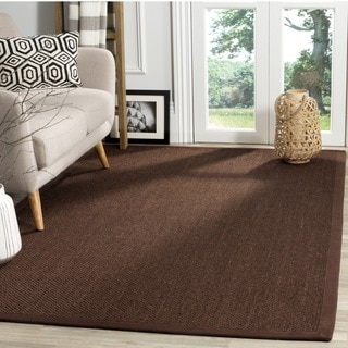 Safavieh Natural Fiber Sisal Chocolate / Dark Brown Area Rug (6' Square)