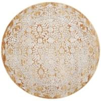Safavieh Palermo Vintage Oriental Gold / Beige Viscose Rug (6' 7 Round) - 6'7