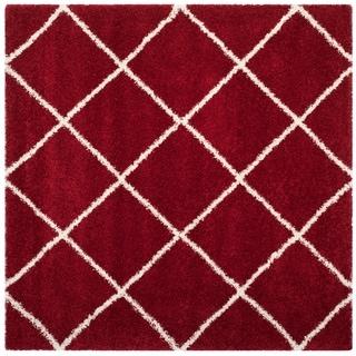 Safavieh Hudson Shag Estella Rug (7 x 7 Square - Red/Ivory)