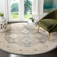 Safavieh Sofia Vintage Diamond Light Grey / Beige Distressed Rug - 6'7 Round