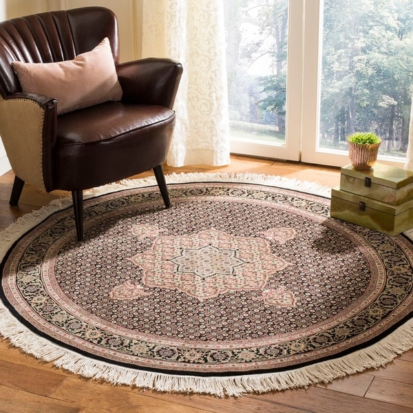 Safavieh Hand-Knotted Tabriz Herati Multicolored Wool / Silk Persian Rug - Assorted - 5' Round