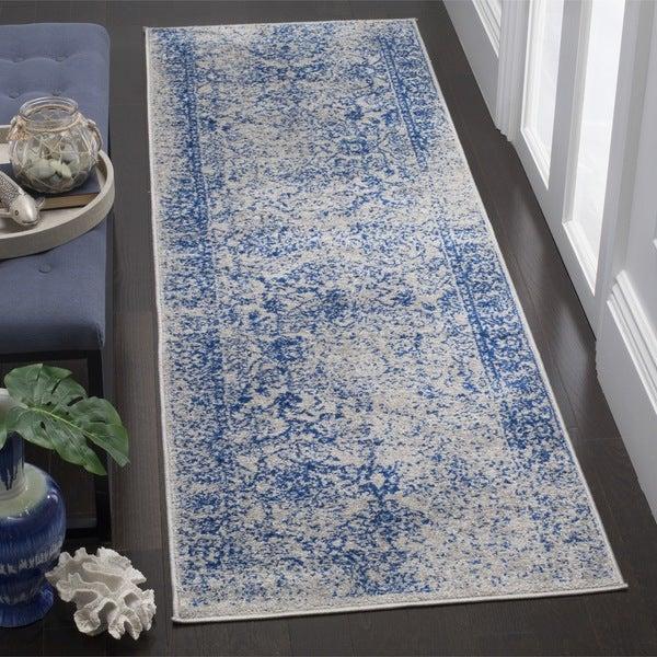 """Safavieh Adirondack Vintage Oriental Grey / Blue Runner - 2'6"""" x 12' Runner"""