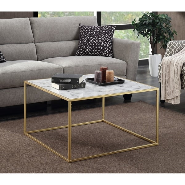 faux marble coffee table Convenience Concepts Gold Coast Faux Marble Coffee Table   Ships  faux marble coffee table