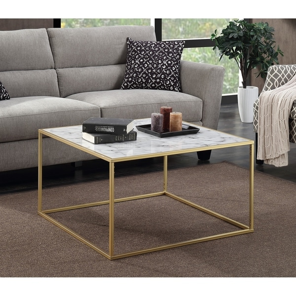 Genial Convenience Concepts Gold Coast Faux Marble Coffee Table