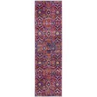 Safavieh Madison Bohemian Fuchsia/ Multi Area Rug Runner - 2'3 x 12'