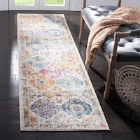 "Safavieh Madison Bohemian Vintage Cream/ Multi Distressed Runner Rug - 2'3"" x 10'"