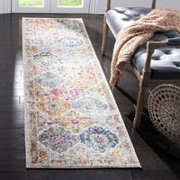 "Safavieh Madison Bohemian Vintage Cream/ Multi Distressed Rug - 2'3"" x 6' Runner"