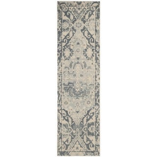 Safavieh Handmade Restoration Vintage Charcoal/ Ivory Wool Distressed Runner (2' 3 x 8')