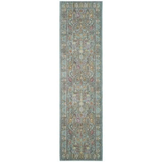 Safavieh Valencia Traditional Distressed Silky Polyester Runner (2' 3 x 10')