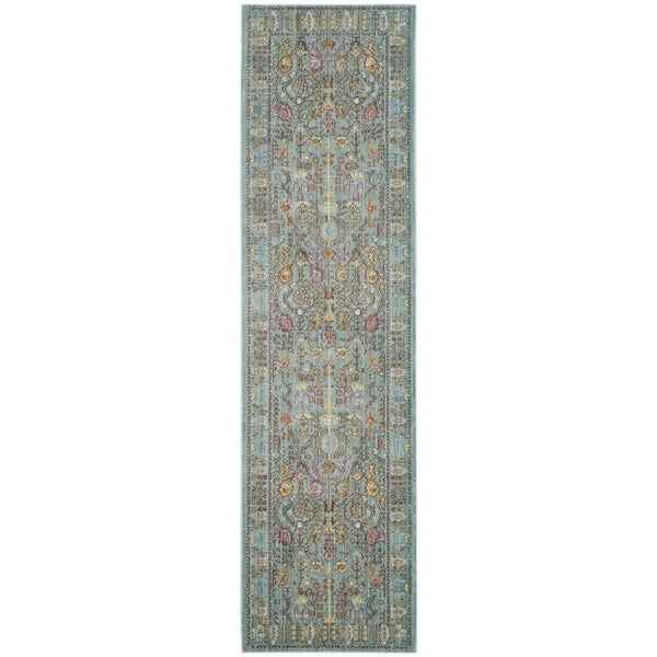 """Safavieh Valencia Traditional Distressed Silky Polyester Runner - 2'3"""" x 10'"""