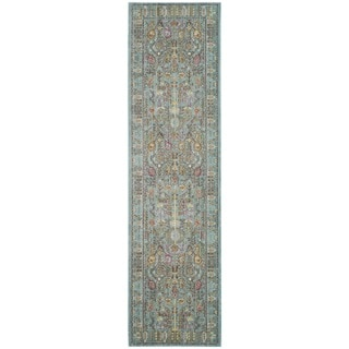 Safavieh Valencia Traditional Distressed Silky Polyester Runner (2' 3 x 8')