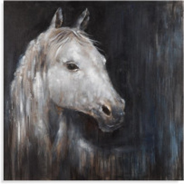 'Mystical Horse' Multicolored Oil/Acrylic Handpainted Artwork