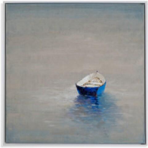 Bassett Mirror Company 'Summer Solitude' Multicolored Canvas Painting