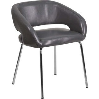 Offex Fusion Series Contemporary Grey LeatherSoft Reception Lounge Chair