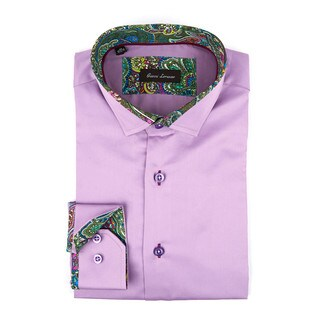 Gianni Lorenzo Men's Mauve Full-sleeve Fashion Shirt