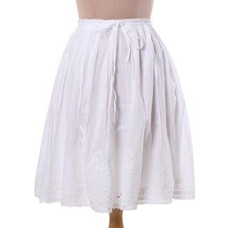 Handmade Magical Leaves Cotton Skirt (India)
