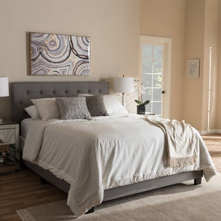 Link to Porch & Den Bandai Contemporary Fabric Bed Similar Items in Bedroom Furniture