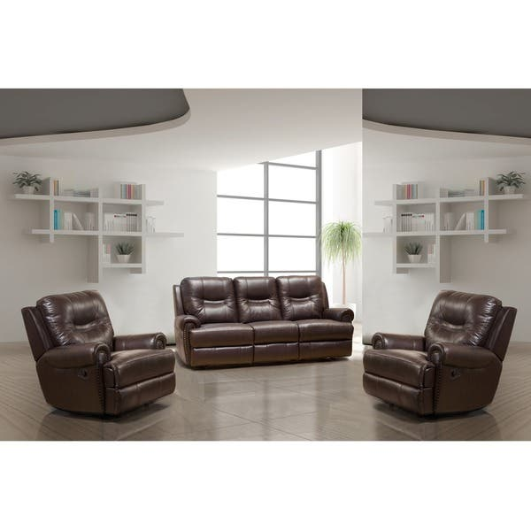 Stupendous Windemere Brown Top Grain Leather Reclining Sofa And Two Rocker Recliners Gmtry Best Dining Table And Chair Ideas Images Gmtryco