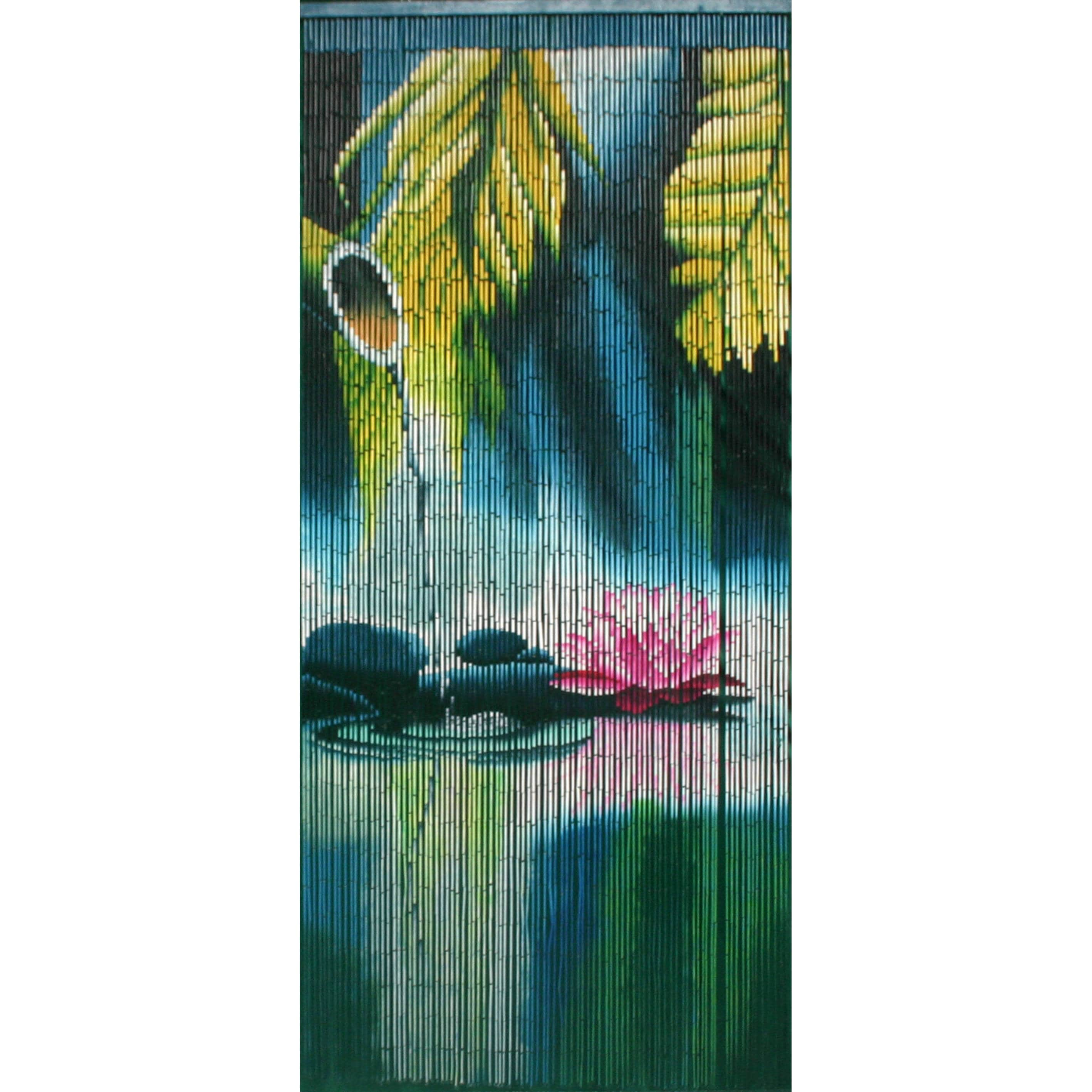 Bamboo 54 Serenity Nature Meditation Curtain (multicolor)...