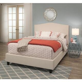 Abbyson Cailen Light Beige Upholstery Platform Bed