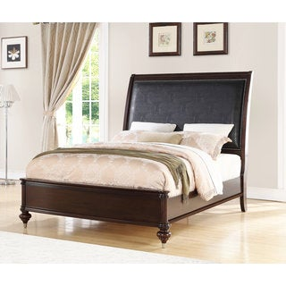 Abbyson Delano Luxury Faux Crocodile Leather Bed (2 options available)