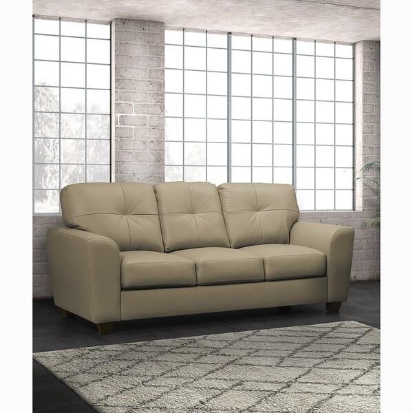 Bahama Taupe Top Grain Leather Sofa
