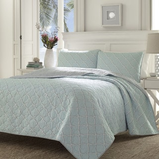 Tommy Bahama Travel Trellis Quilt Set