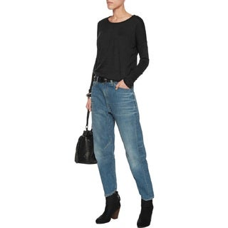 Rag & Bone Women's Engineer Cropped Boyfriend Jeans