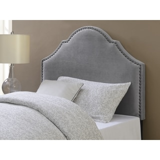 Baylie Smoke Arched Upholstered Twin-Size Headboard by Greyson Living