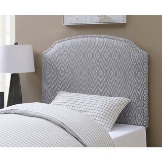 Shelby Pattern Grey Print Upholstered Twin-Size Headboard by Greyson Living
