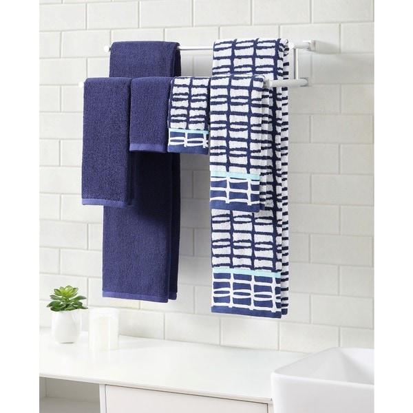 Clairebella Cubish Printed 6-piece Bath Towel Set