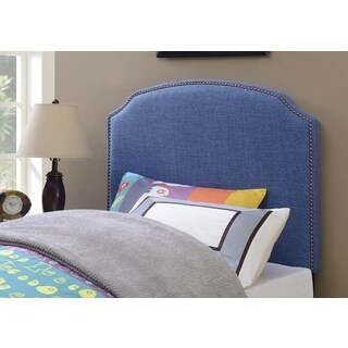 Shelby Ocean Blue Upholstered Twin-Size Headboard by Greyson Living
