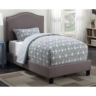 Sheffield Taupe Upholstered Twin-Size Bed by Greyson Living