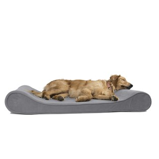 FurHaven Microvelvet Luxe Lounger Orthopedic Contour Pet Bed (4 options available)