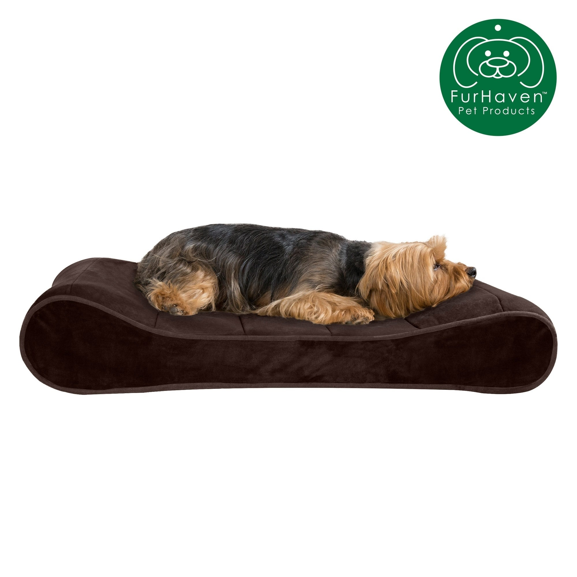 New Furhaven Orthopedic Mattress Pet Bed Large Chocolate for Dogs and Cats