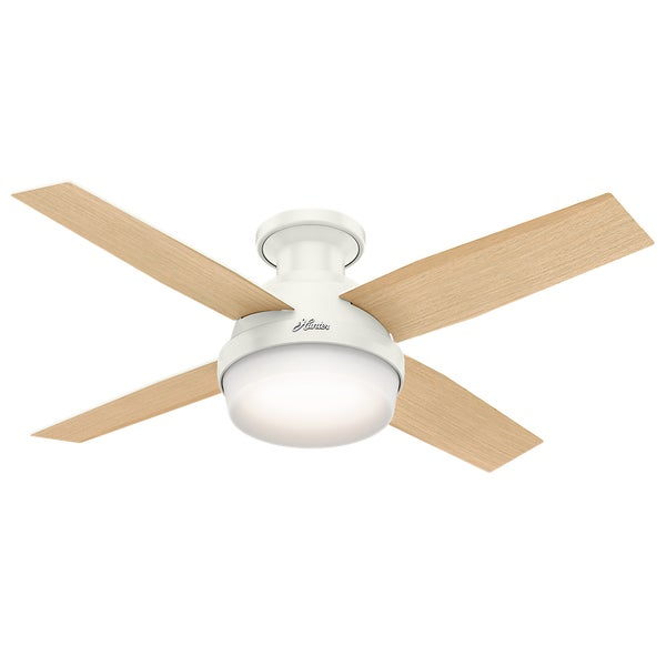 Hunter Fan Dempsey Collection White 44 Inch Low Profile