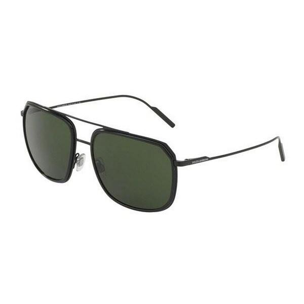47f11222e6 Dolce  amp  Gabbana Men  x27 s DG2165 110671 58 Square Metal Plastic Black