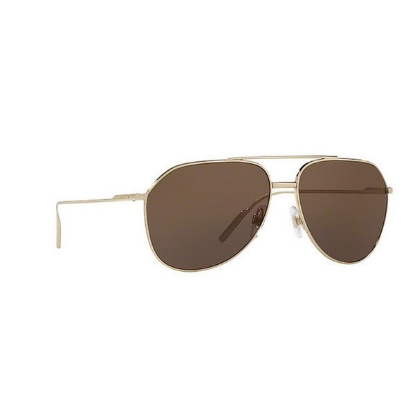 423d8085b77 Shop Dolce   Gabbana Men s DG2166 488 73 61 Aviator Metal Plastic ...