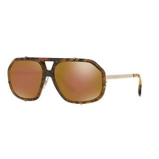 Dolce & Gabbana Men's DG2167 488/F9 61 Aviator Metal Plastic Brown Sunglasses