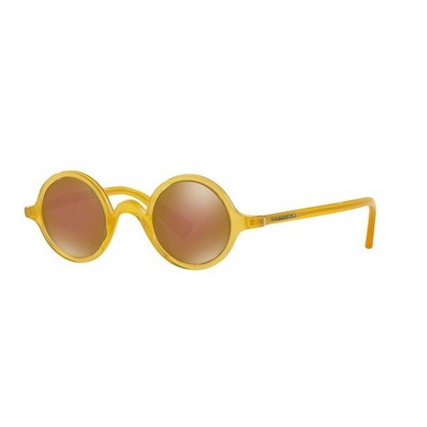f8ccaece2e Shop Dolce   Gabbana Men s DG4303 652 F9 39 Round Plastic Brown ...